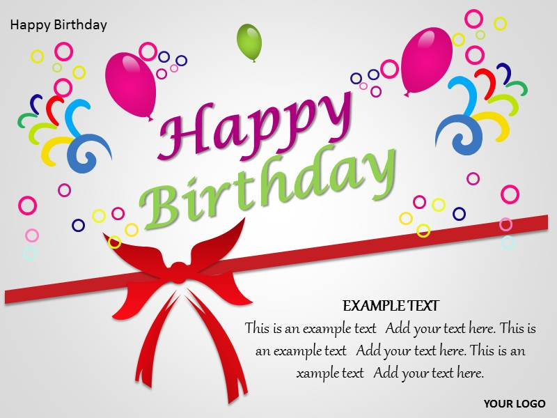 Happy Birthday Templates Free Download