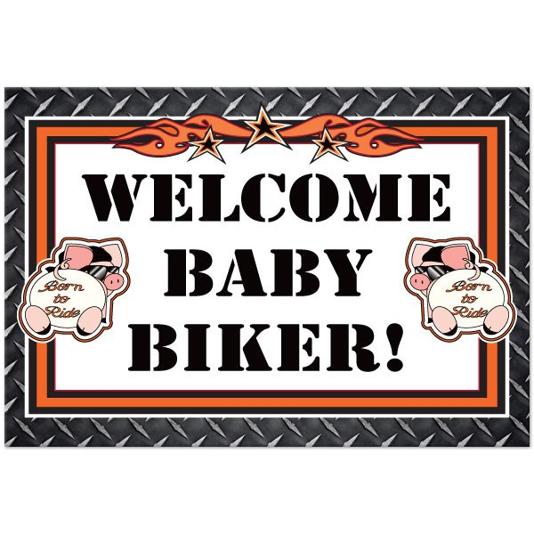 Harley-davidson Baby Shower Invitations