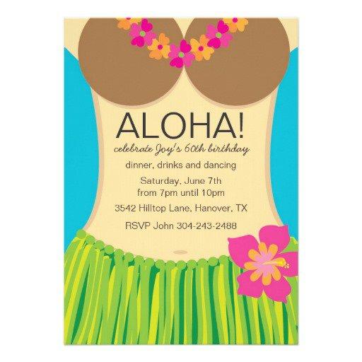 Birthday Party Invitations – Hawaiian Birthday Party Invitations