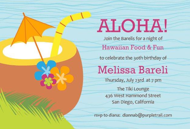 Hawaiian Invitation Templates Free