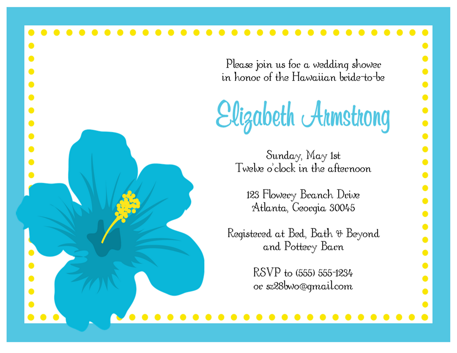 Hawaiian Retirement Invitations