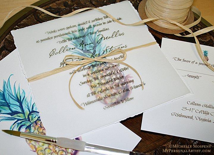 Hawaiian Wedding Invitations Wording