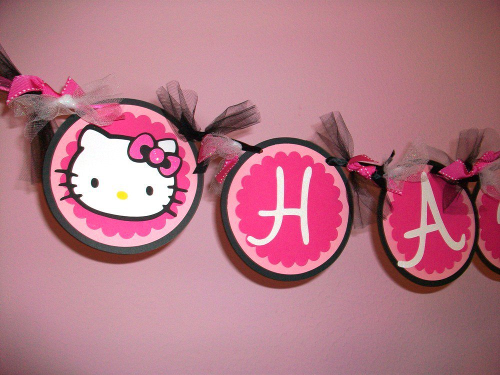 Hello Kitty Birthday Banner