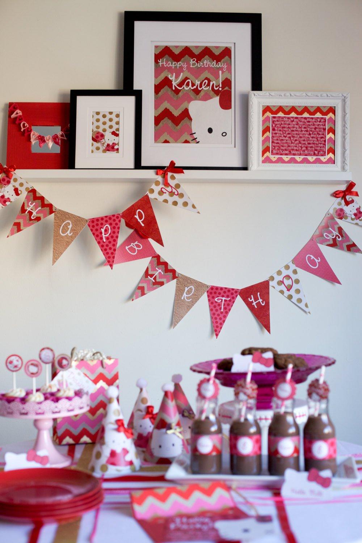Hello Kitty Birthday Banner Free Printable