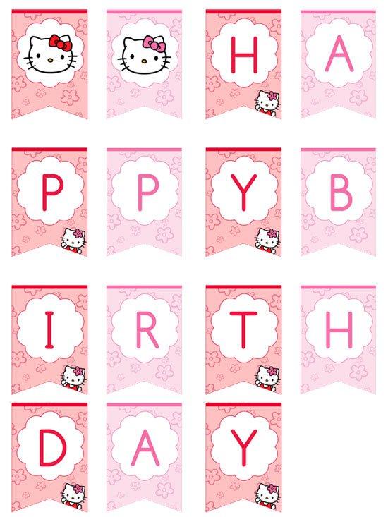 Hello Kitty Birthday Banner Template Free