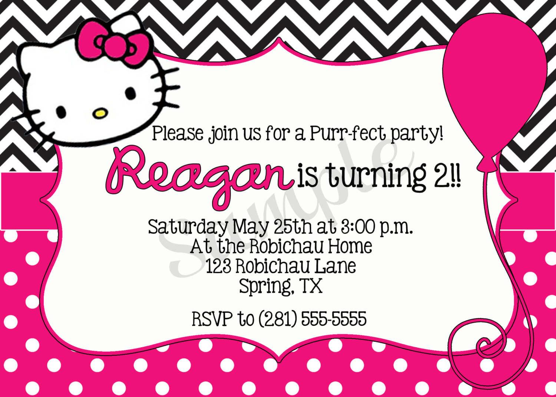 Hello Kitty Birthday Invitations Free