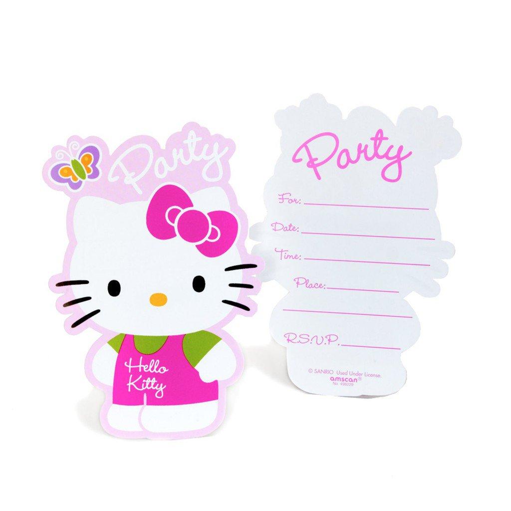Hello Kitty Birthday Party Invitations Templates