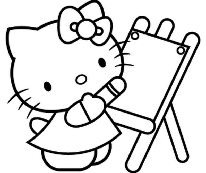 Hello Kitty Christmas Printable Coloring Pages