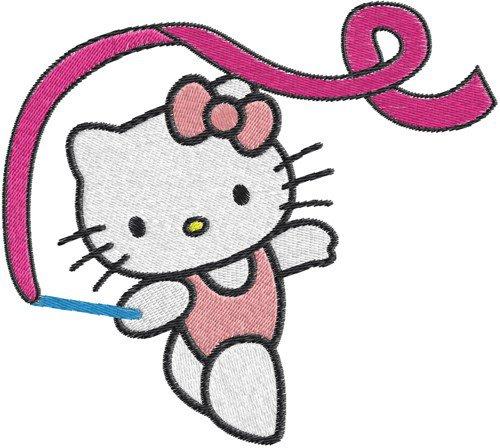 Hello Kitty Gymnastic Invitations