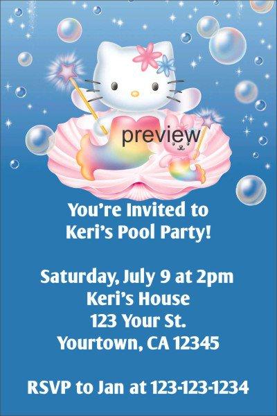 Hello Kitty Swim Party Invitations