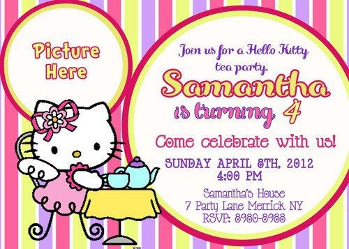 Hello Kitty Tea Party Invitations