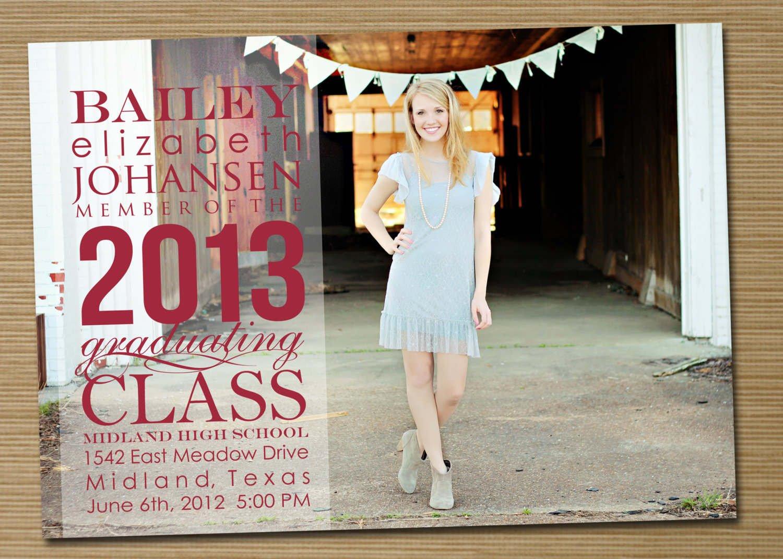 High School Graduation Announcements Free Printable
