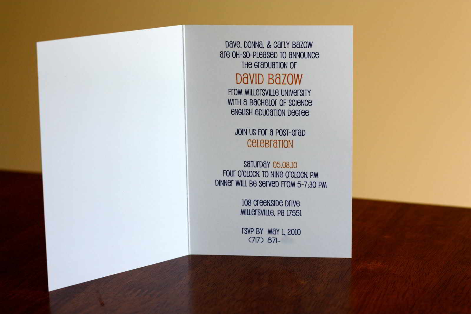 High School Graduation Invitation Wording Templates