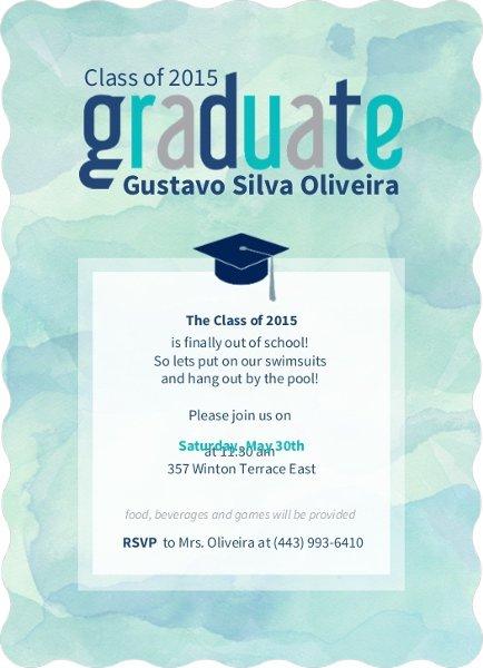 High School Graduation Invitations Wording