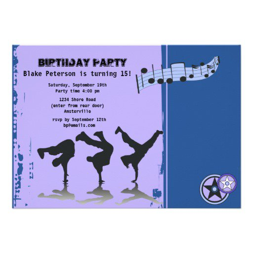 Hip Hop Party Invitation Wording