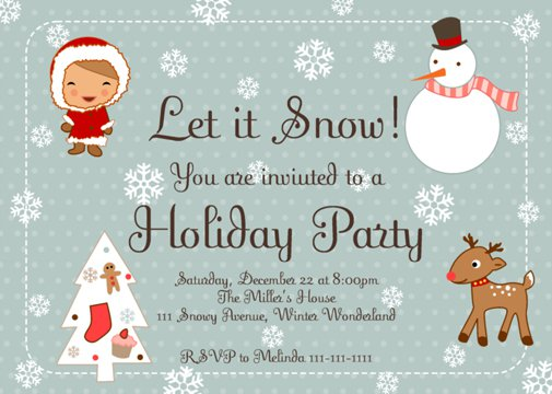 Holiday Invitation Copy