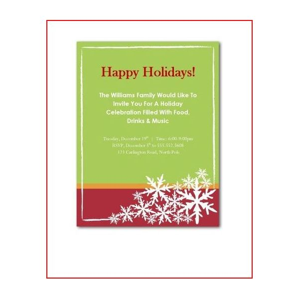 Holiday Party Invitation Poems