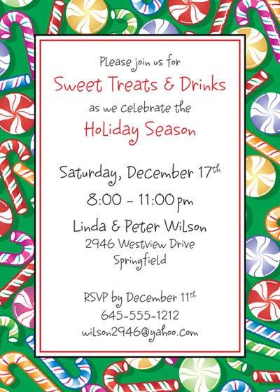 Holiday Potluck Invitation Wording