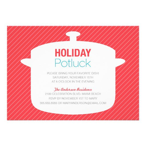 Holiday Potluck Invitation Wording At Work