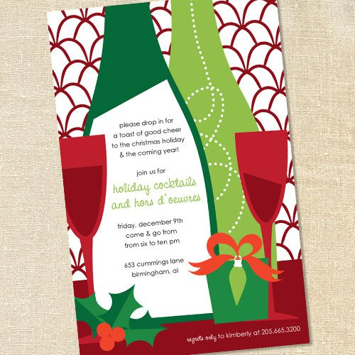 Holiday Wine Party Invitation Wording
