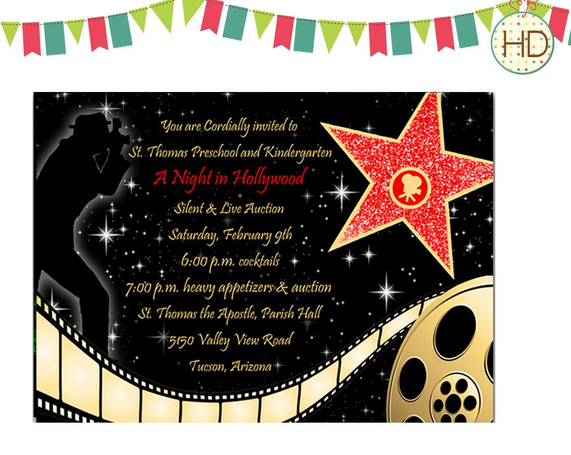 Hollywood Party Invitations Templates Free