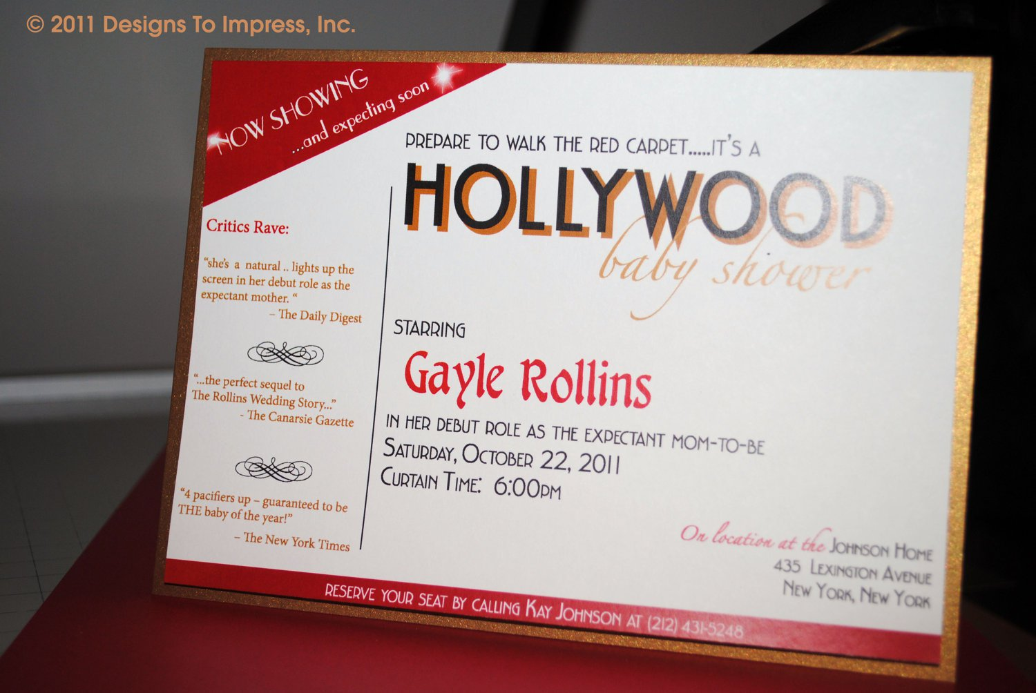 Hollywood Themed Prom Invitations