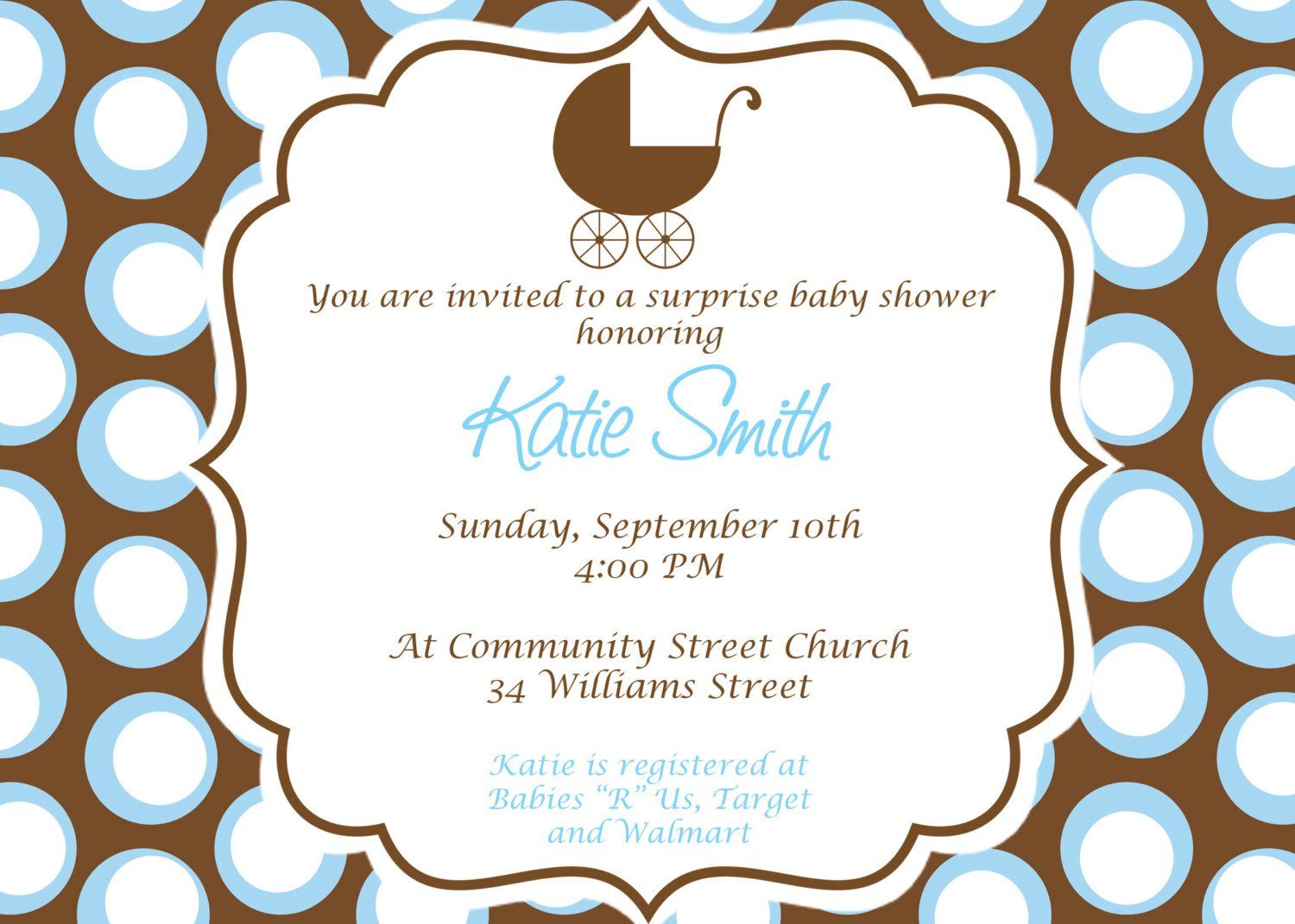 Homemade Baby Shower Invitations Templates