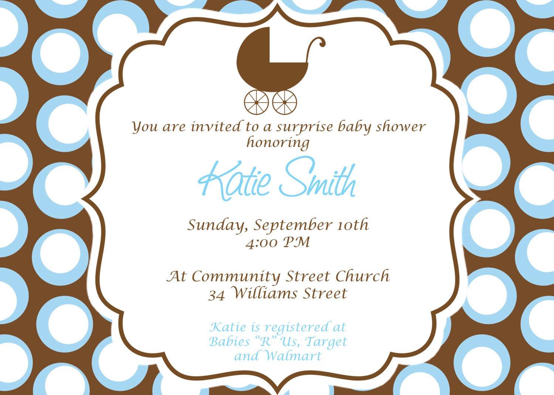 Homemade Baby Shower Invitations Templates