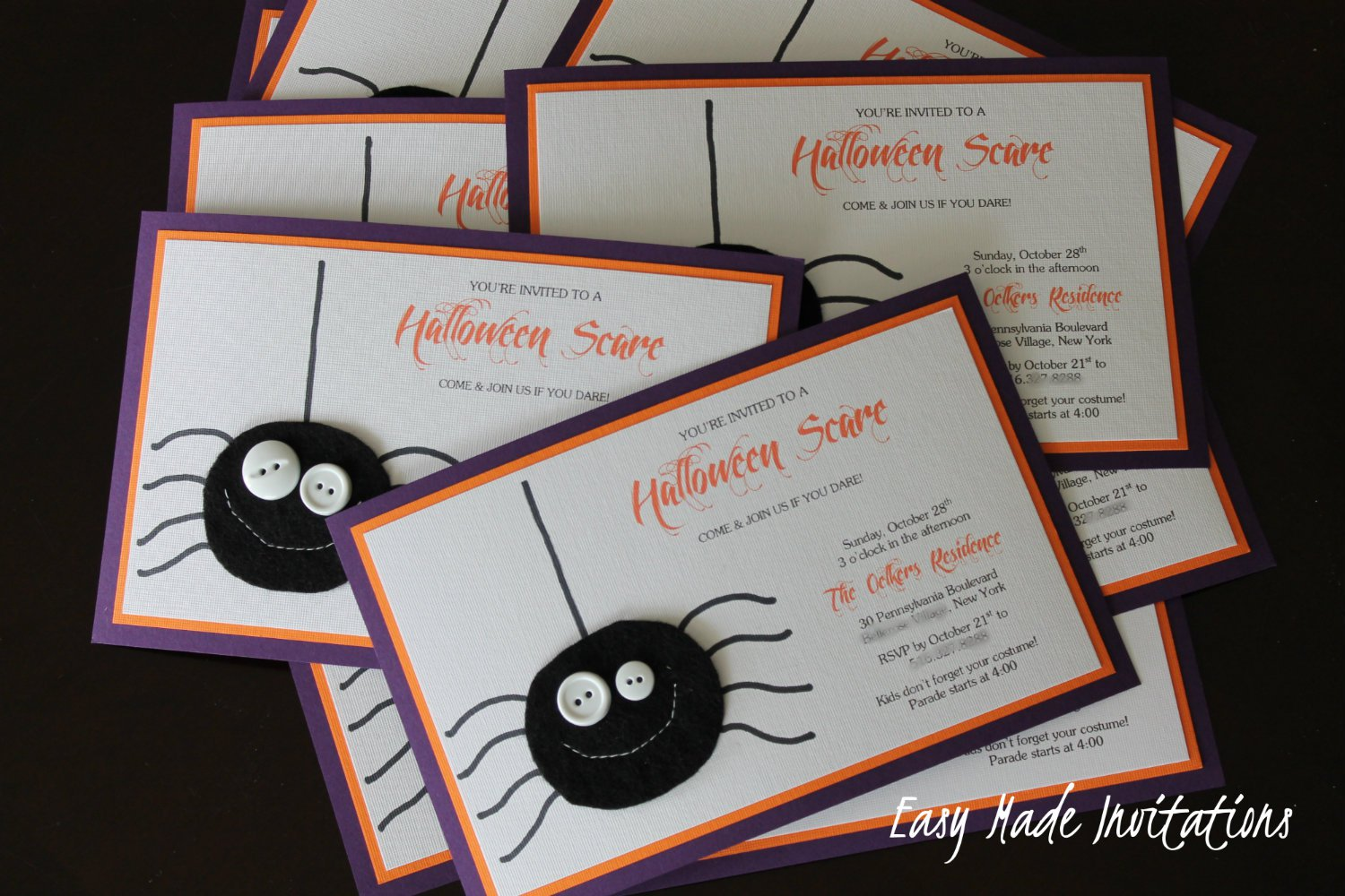 homemade halloween birthday invitations 1500 x 1000 - Homemade Halloween Party Invitations
