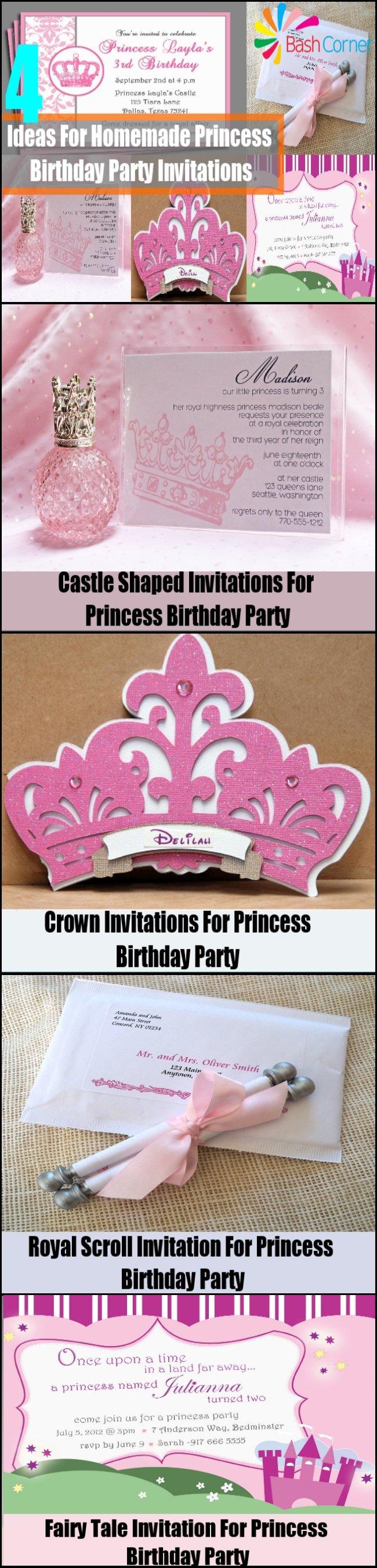 Homemade Invitations Ideas Birthday
