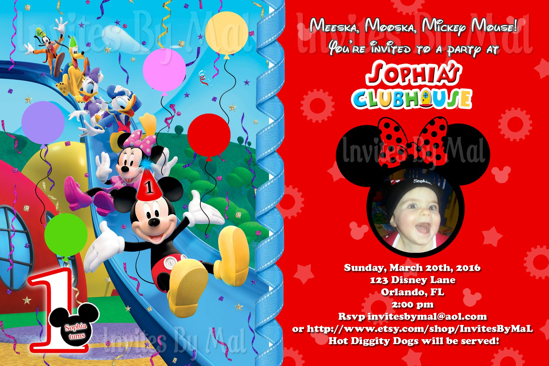 Homemade Mickey Mouse Clubhouse Invitations