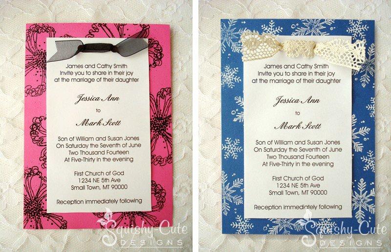 Homemade Spring Wedding Invitations