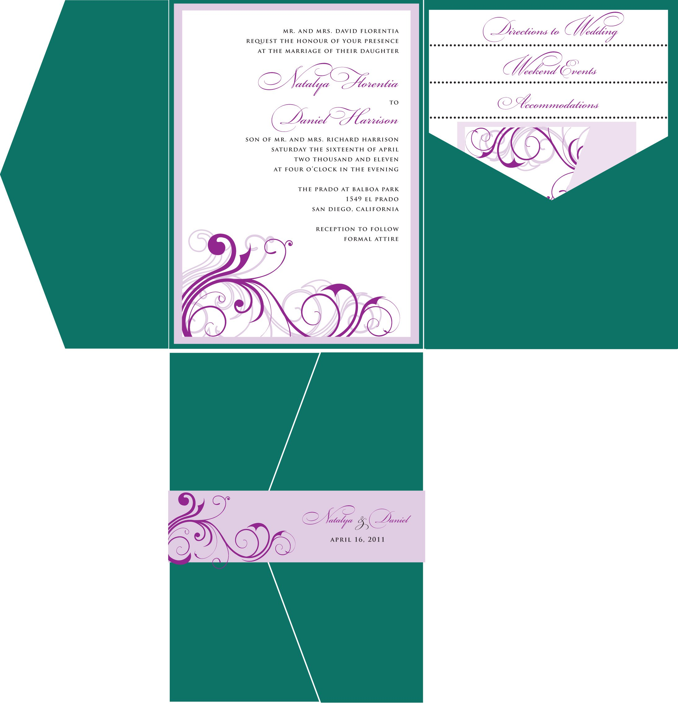 Wedding Invitation Templates – Homemade Wedding Invitation Templates