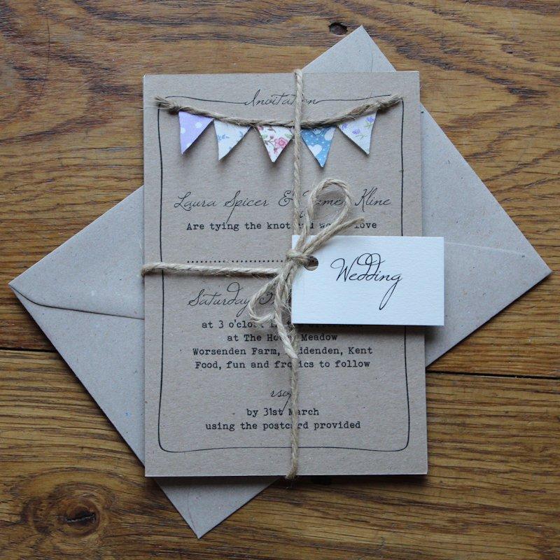 Homemade Wedding Invitations Spring Pastel