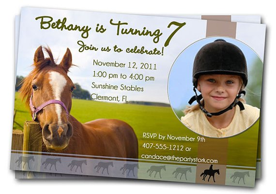 Horse Birthday Party Invitations Printable