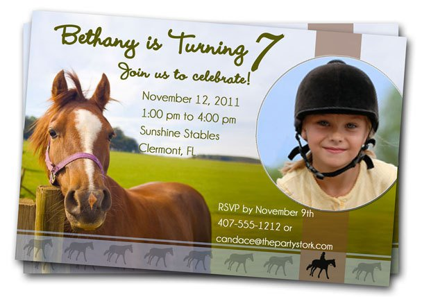 Horse Party Invitations Free Printable
