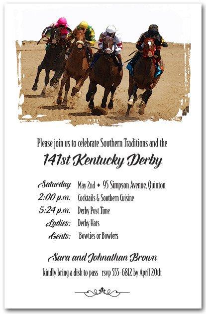 Horse Racing Invitations Free