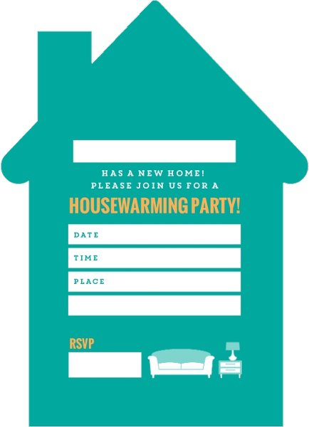 Housewarming Invitation Blank Templates