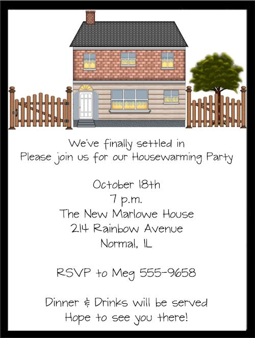 Housewarming Invitation Verbiage
