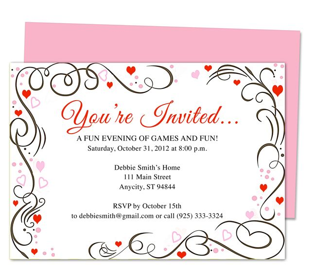 Hp Free Party Invitation Templates