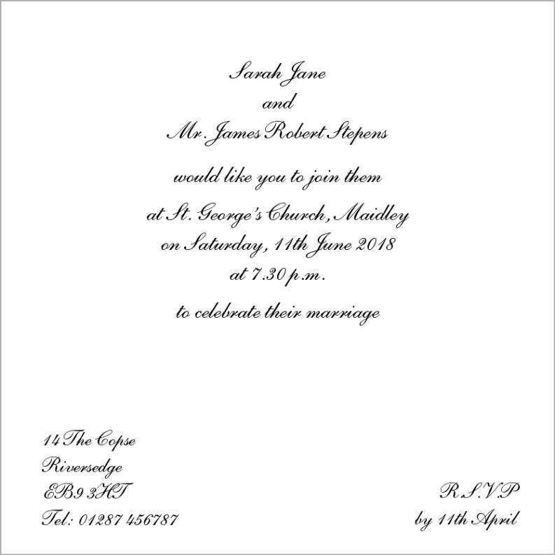 Humorous Wedding Invitation Wording