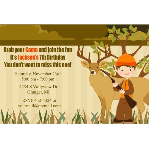 Hunting Birthday Invitations