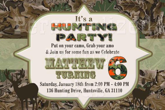 Hunting birthday invitations filmwisefo