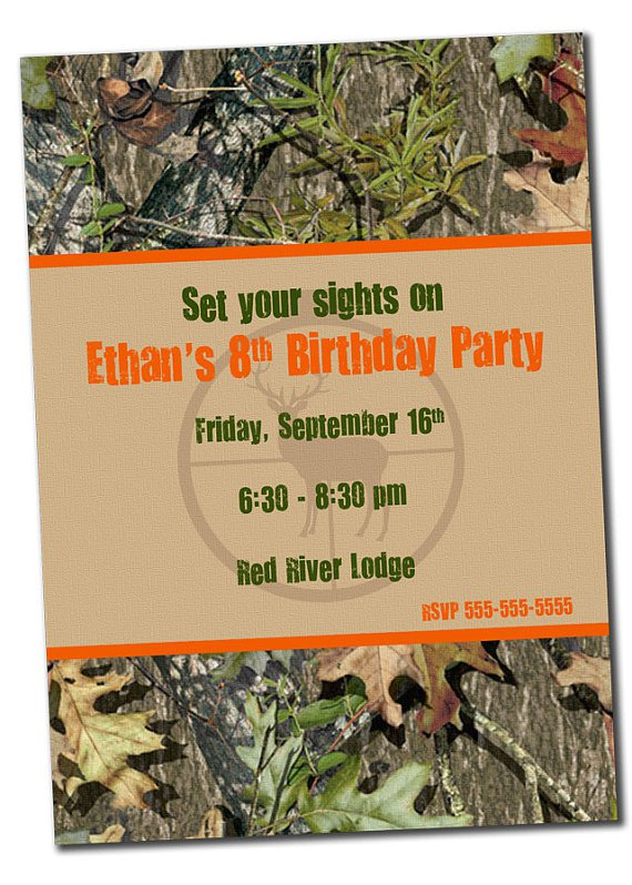 Hunting Birthday Party Invitations