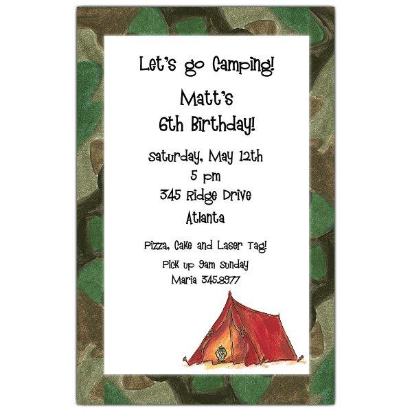 Hunting Camouflage Birthday Invitations