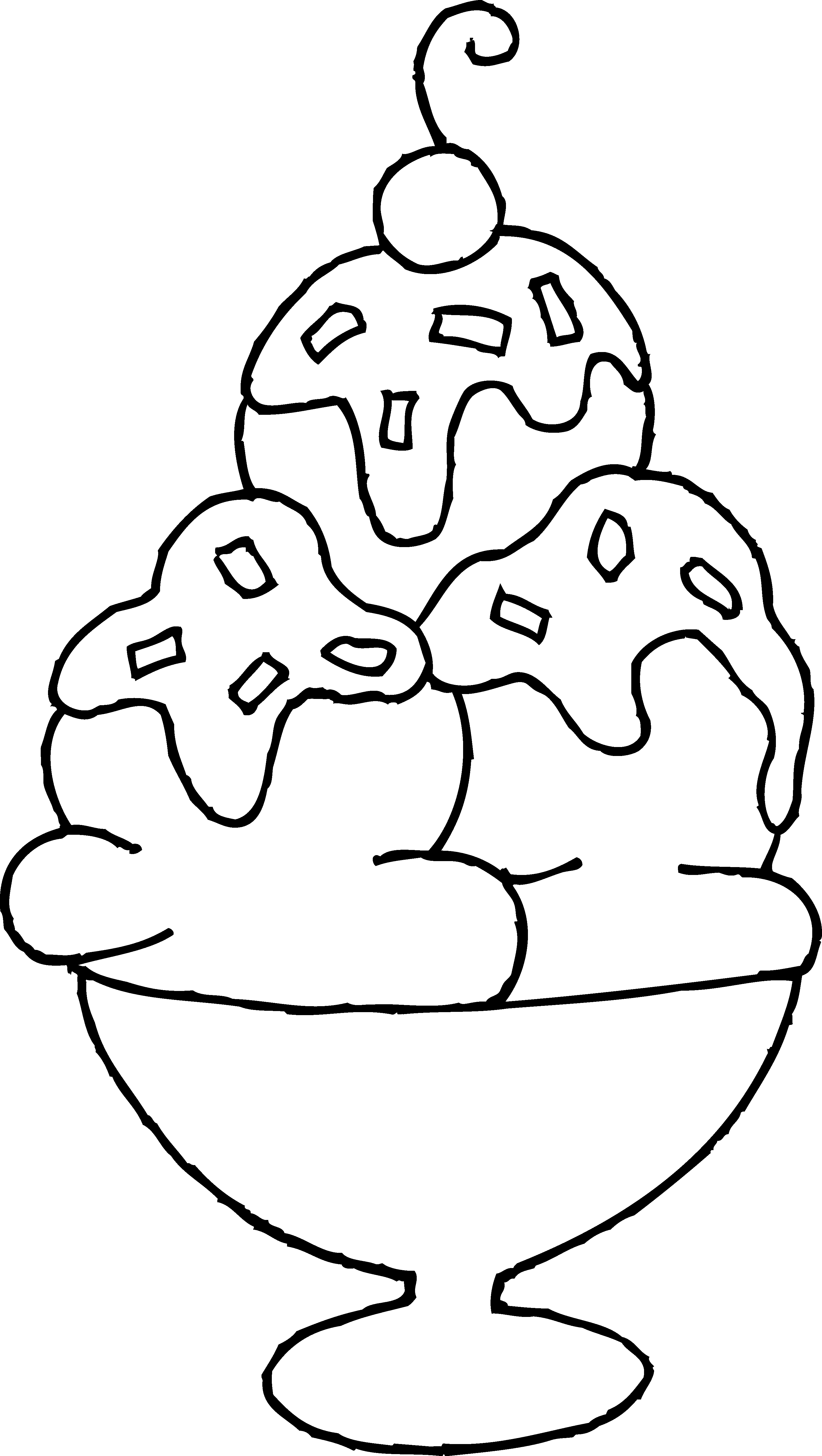 Ice Cream Sundae Printable Coloring Pages