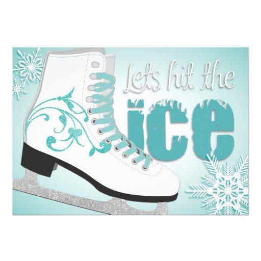 Ice Skating Birthday Party Invitation Templates