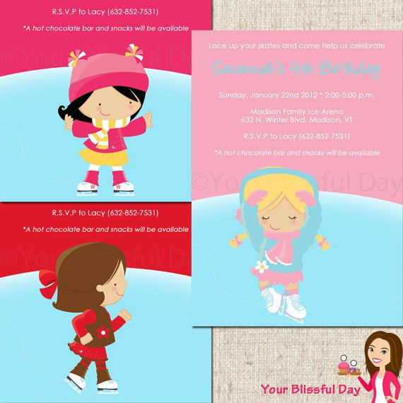Ice Skating Party Invitations Free Printables