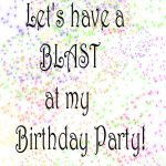 Invitation For Birthday Cards Teens
