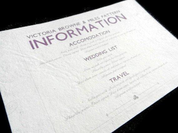 invitation insert cards